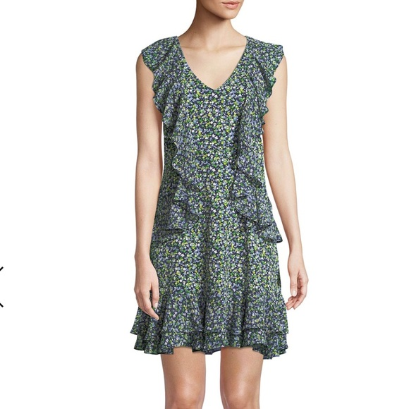 f472adc5465 Michael Kors Wild Flower Cascade-Ruffle Dress